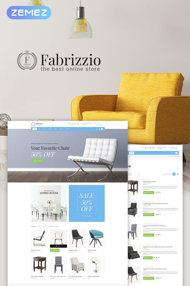Fabrizzio Furniture Store WooCommerce Theme