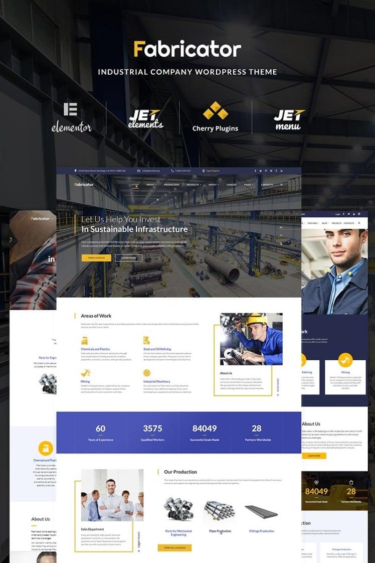 Fabricator Industrial Company WordPress Elementor Theme
