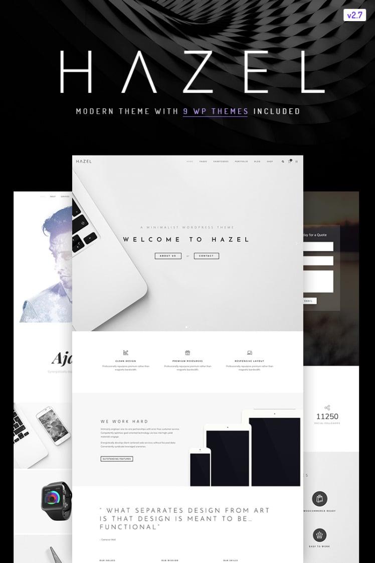Hazel Clean Minimalist MultiPurpose WordPress Themes