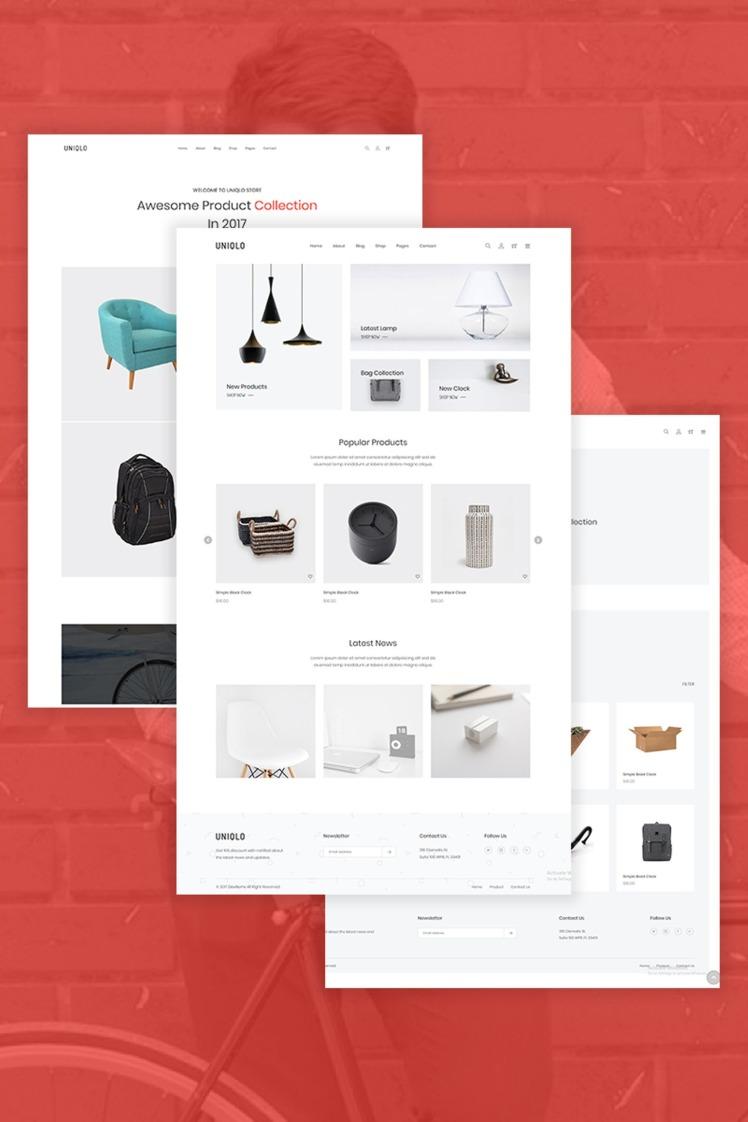 Uniqlo Minimal WooCommerce Themes