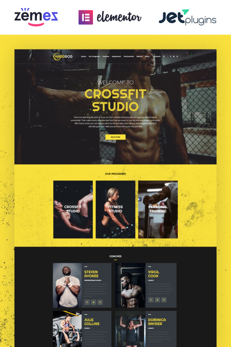 Hardrod Dynamite Fitness Bodybuilding WordPress Themes