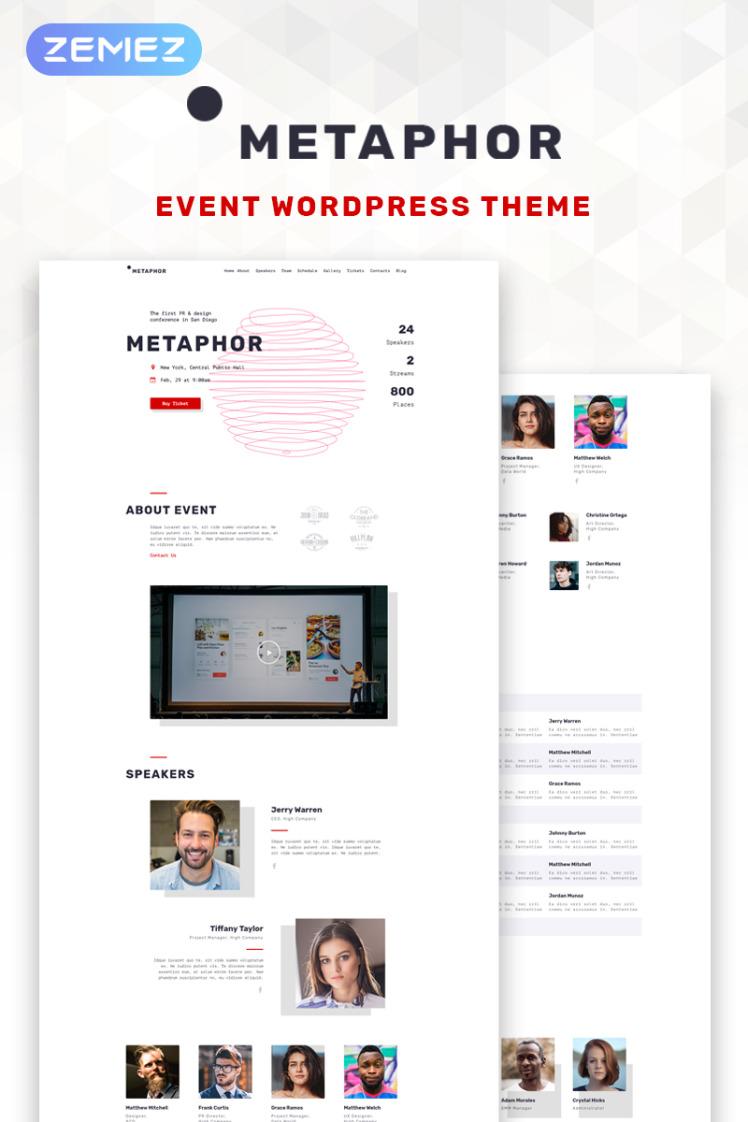 Metaphor Creative Event Planner WordPress Theme