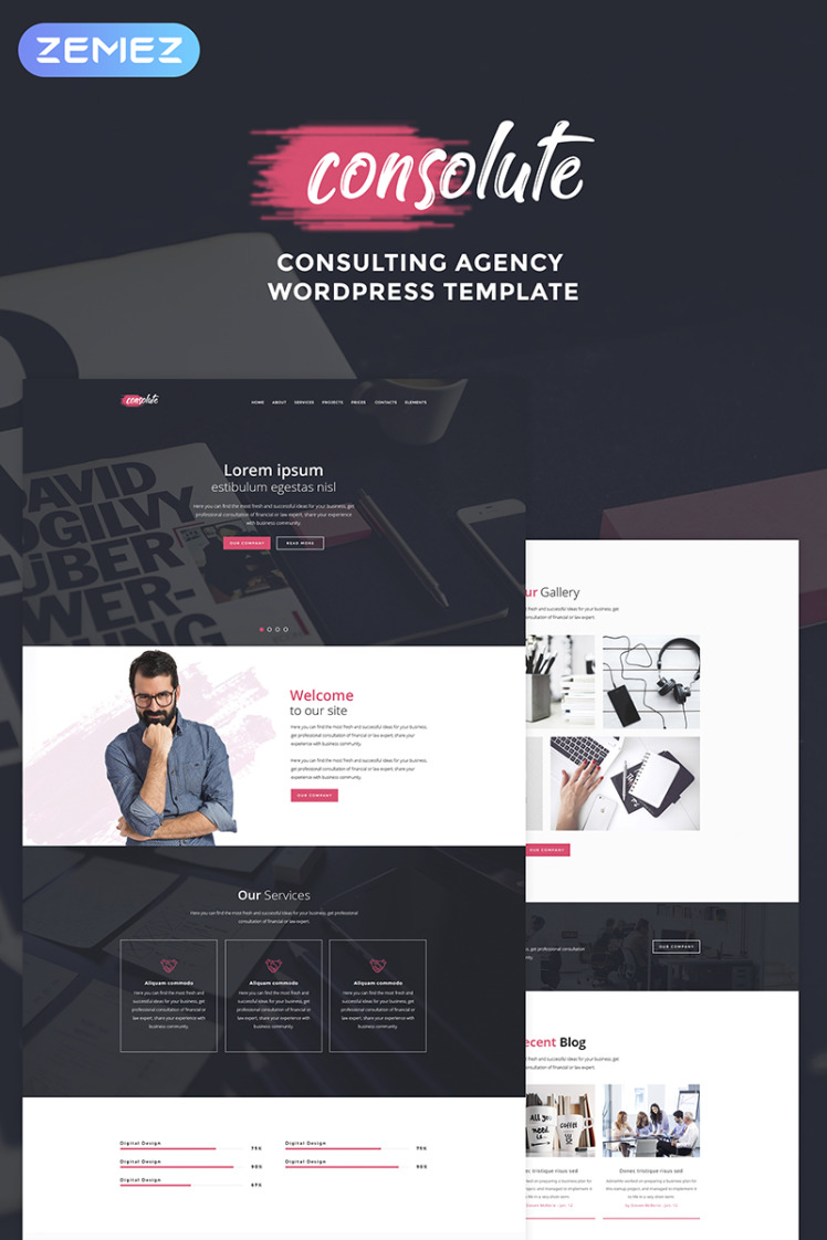 Consolute Powerful Consulting Agency WordPress Theme