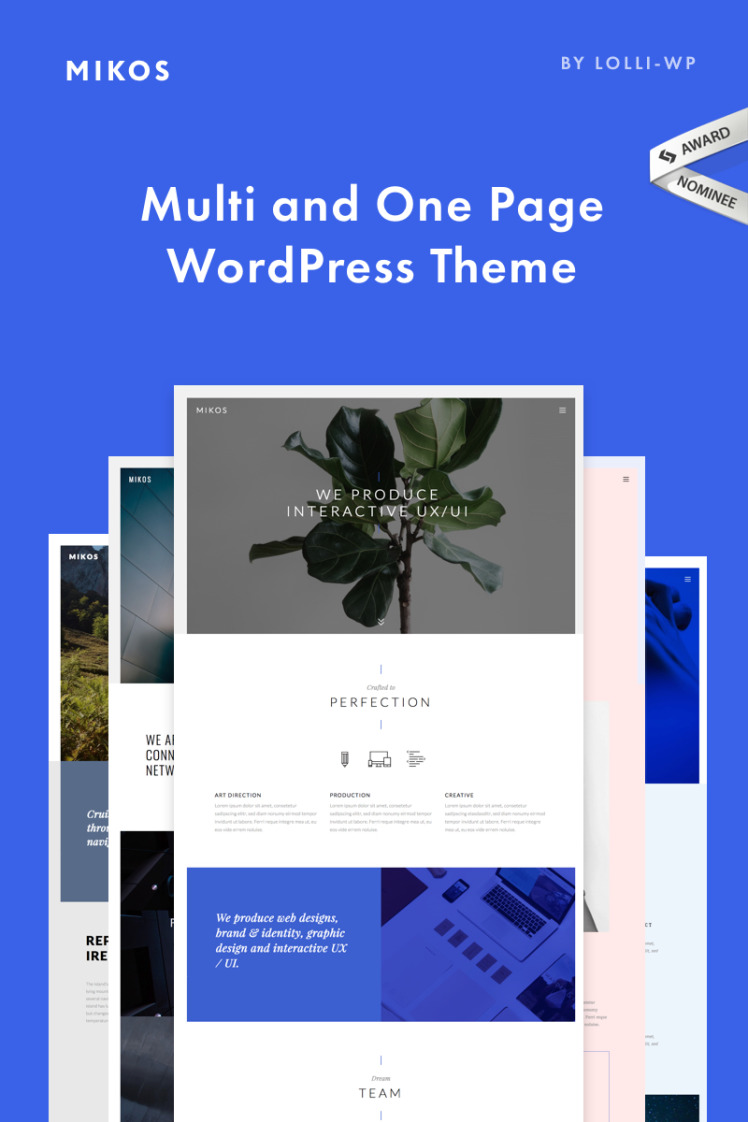 Mikos Multi and One Page WordPress Themes