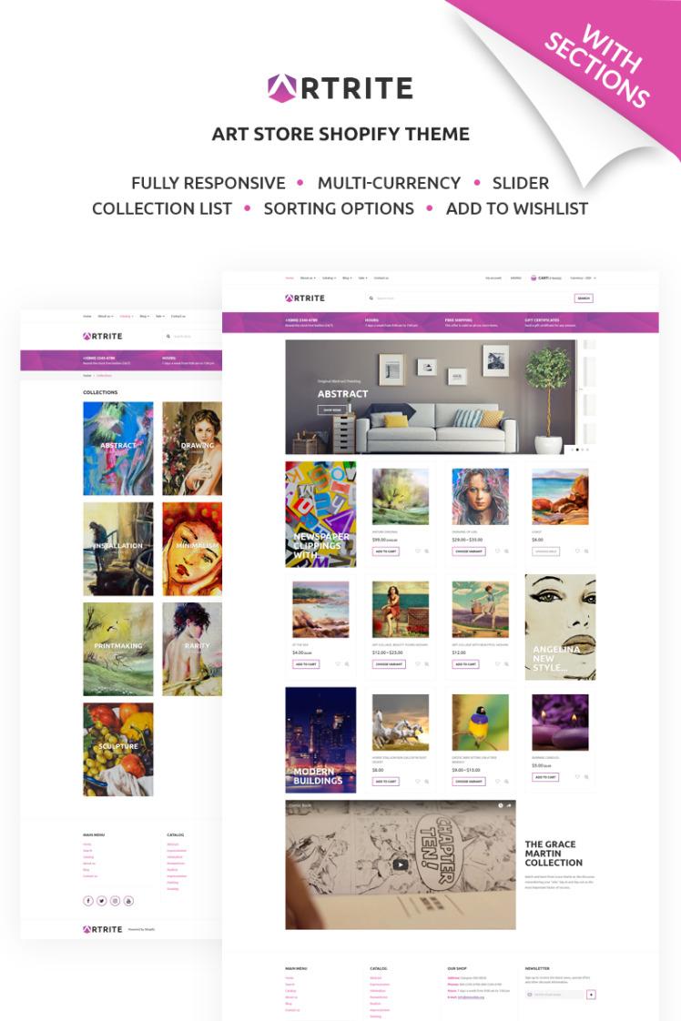 Artrite Marvellous Art Paintings Online Store Shopify Theme