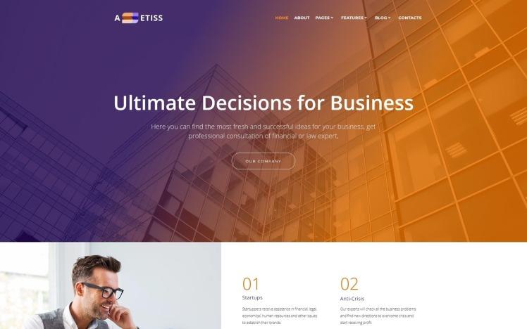 Assetiss Modern Business Advisor WordPress Elementor Theme