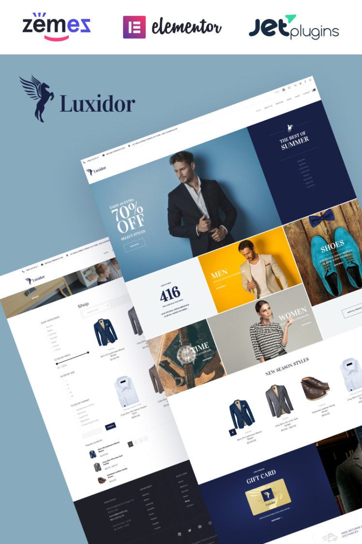 Luxidor Accessories and Apparel Fashion Elementor WooCommerce Theme