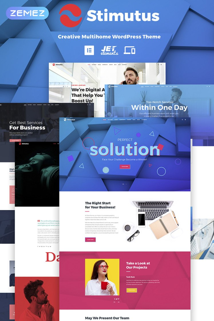 Stimutus Creative Multihome Elementor WordPress Theme