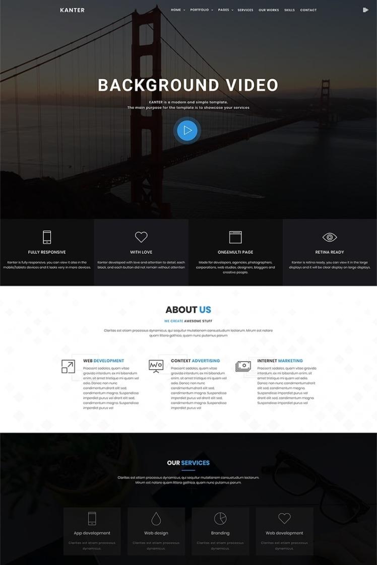 Kanter CorporatePortfolioAgency WordPress Themes