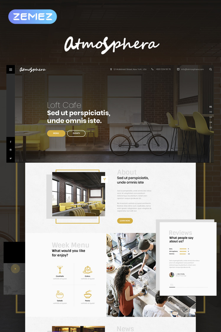 Lunar Cafe Cafe Restaurant Elementor WordPress Theme