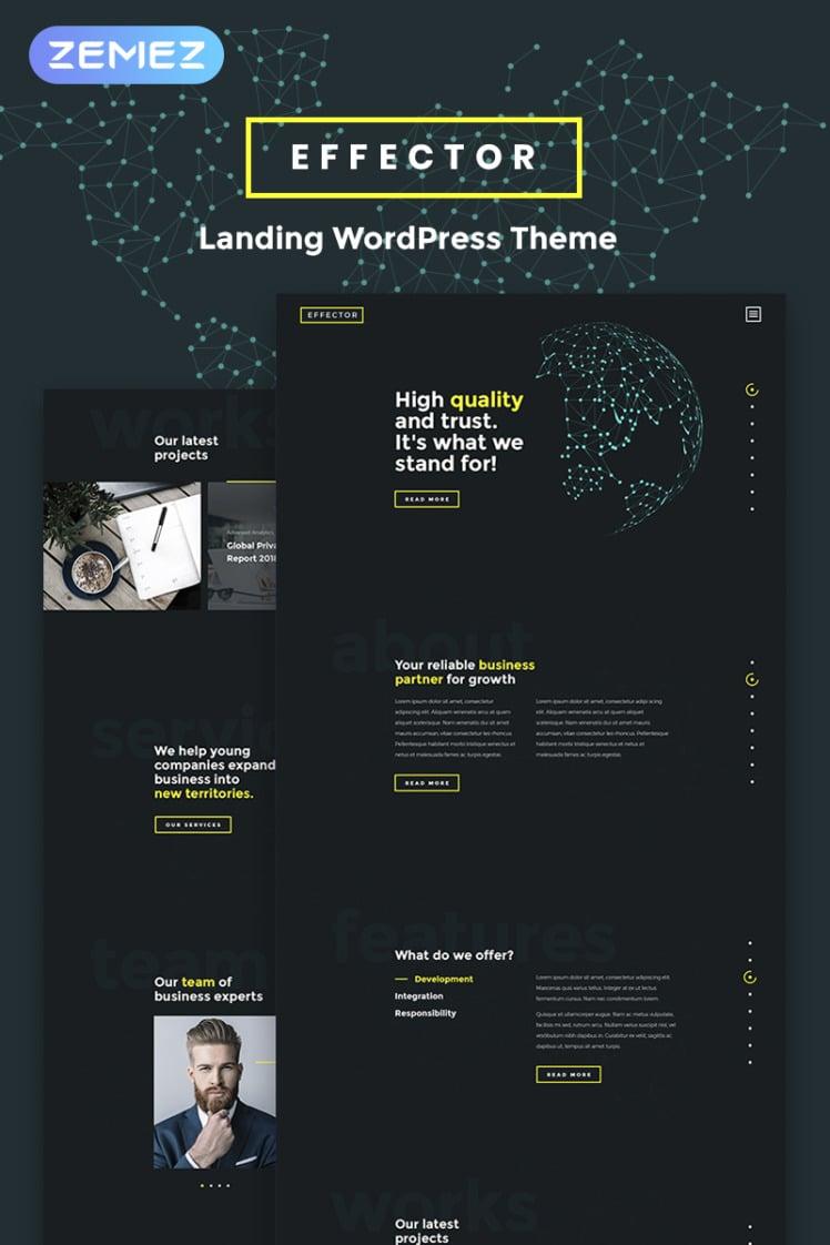 Effector Landing Page WordPress Elementor Theme
