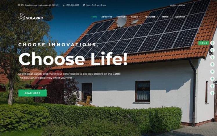Solarro Solar Energy Company WordPress Elementor Theme