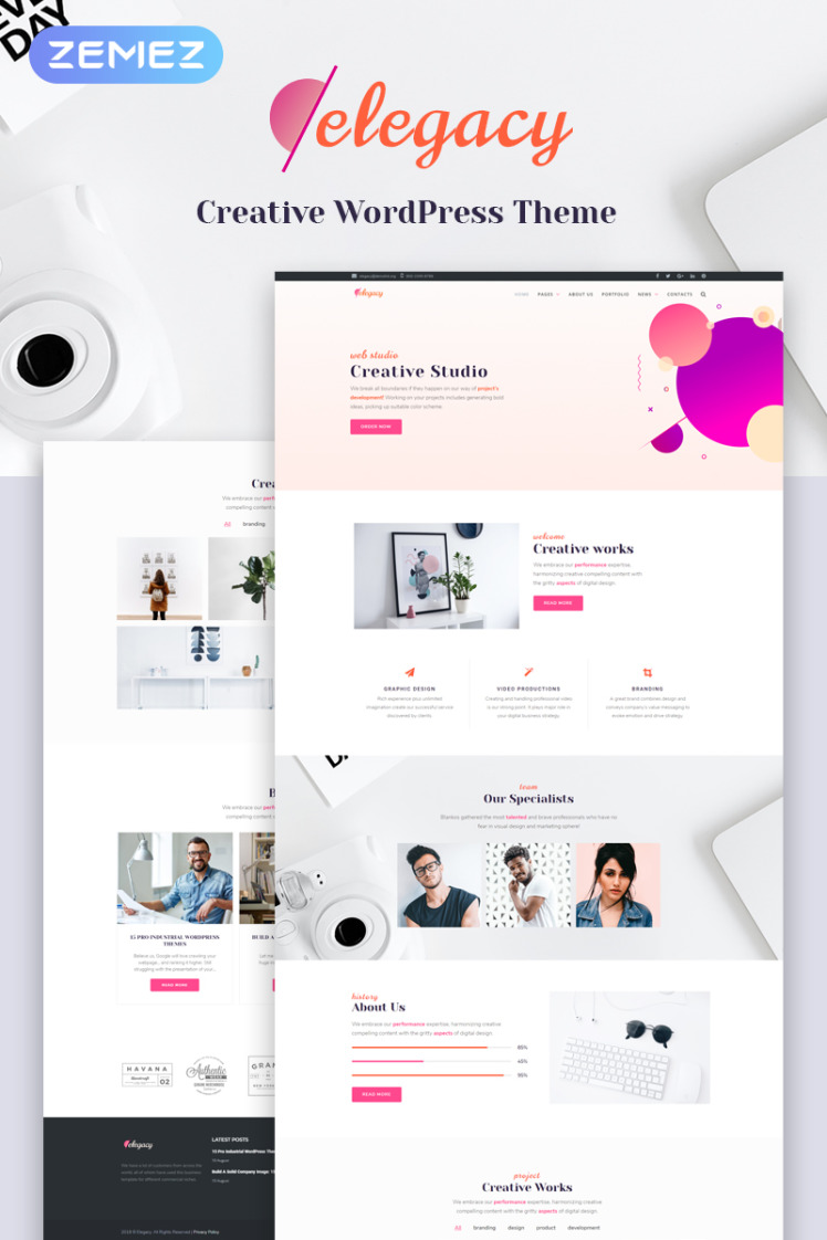 Elegacy Creative WordPress Elementor Theme