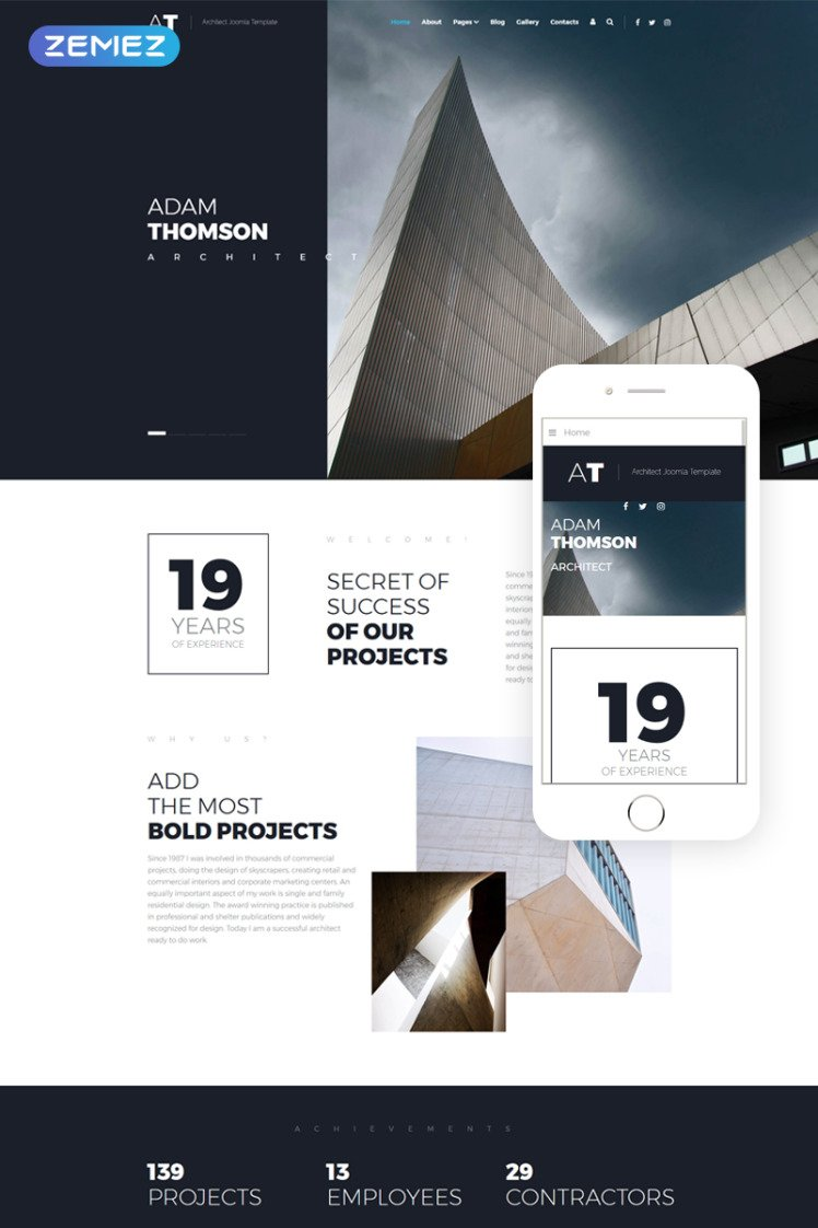 AT Solid Architecture Agency Joomla Templates