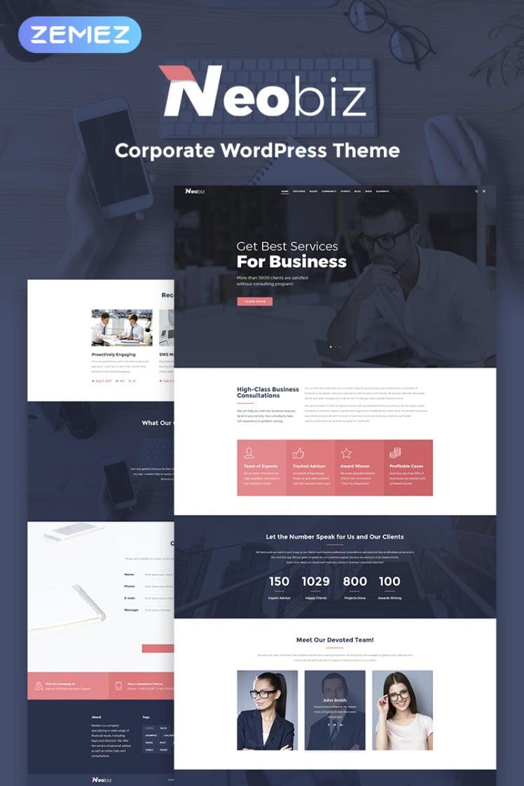 Neobiz Corporate Elementor WordPress Theme