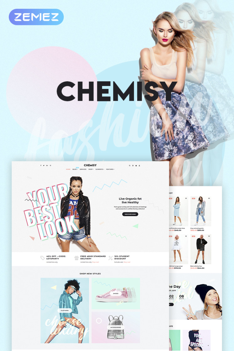 Chemisy Clothes Elementor WooCommerce Themes