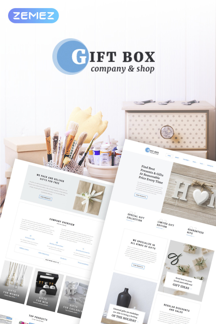 Gift Box Handmade Gifts Store Elementor WooCommerce Themes
