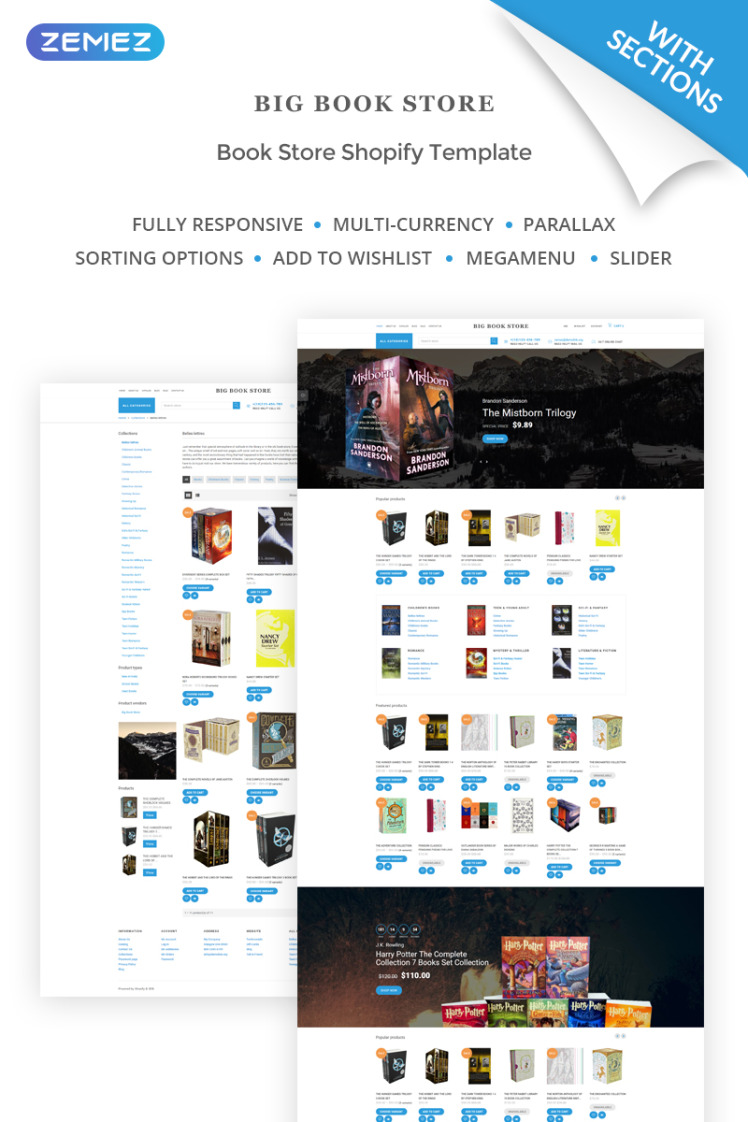 Big Book Store Shopify Themes