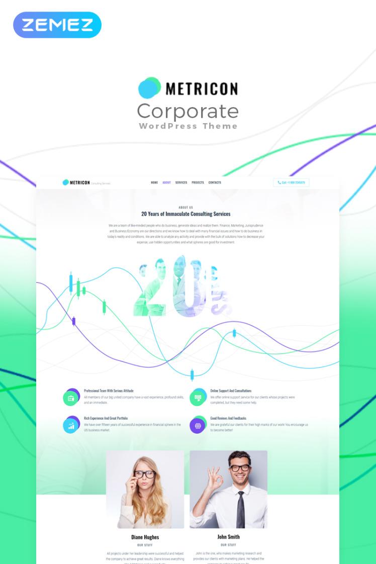 Metricon Corporate Business WordPress Elementor Theme