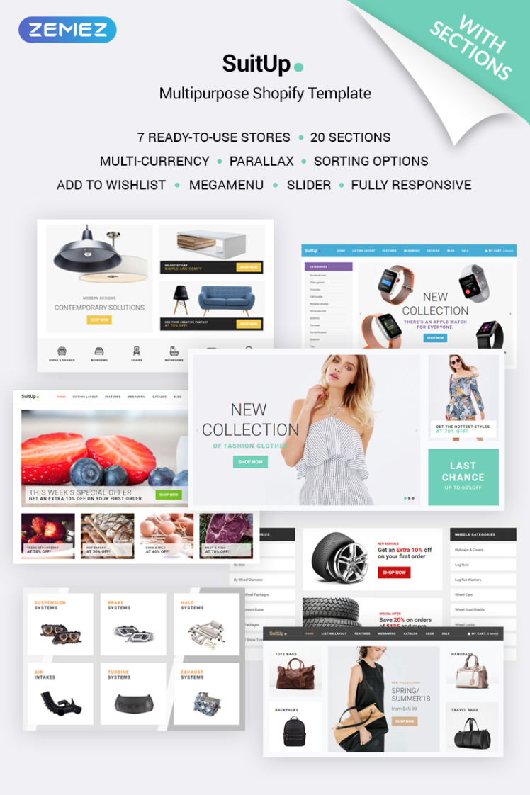 SuitUP Multipurpose Online Store Shopify Themes