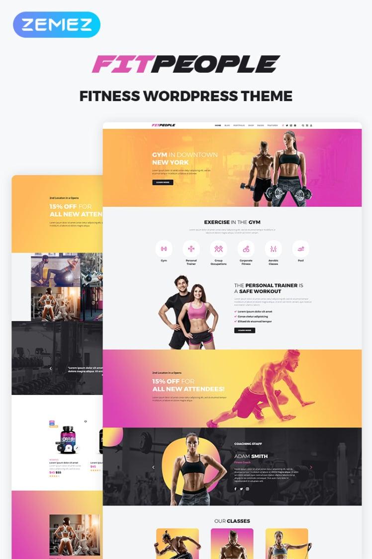 FitPeople Fitness WordPress Elementor Theme
