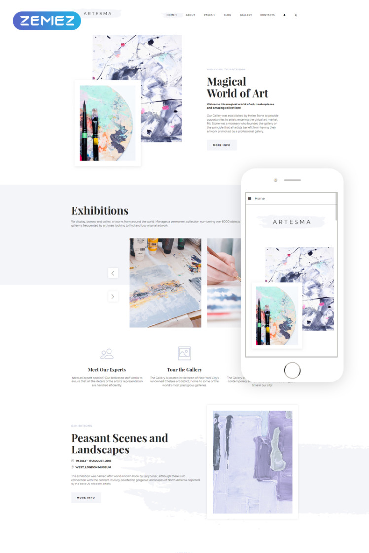 Artesma Art Multipage Clean Joomla Templates