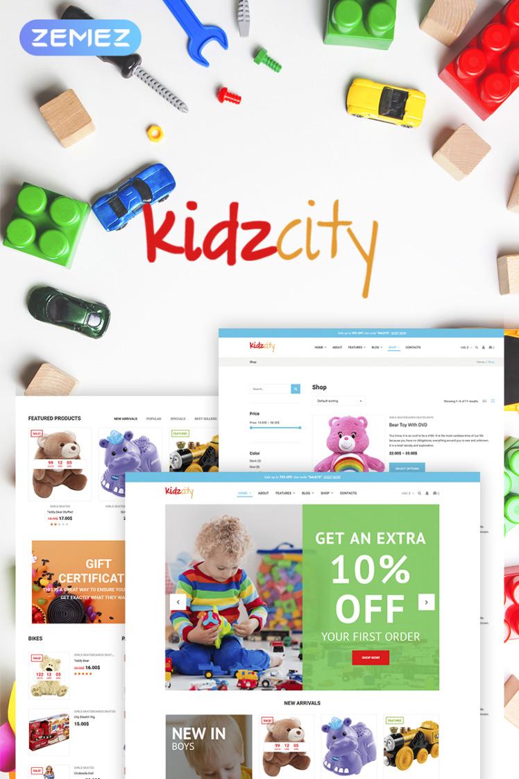 Kidz City Kids Store Elementor WooCommerce Themes