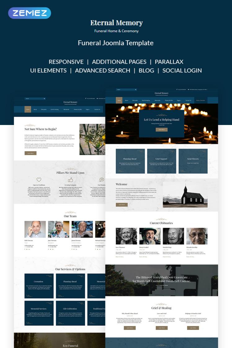 Eternal Memory Solid Funeral Company Joomla Templates
