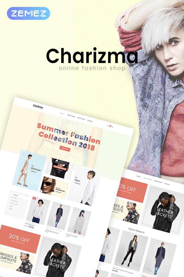 Charizma Fashion Store Elementor WooCommerce Themes