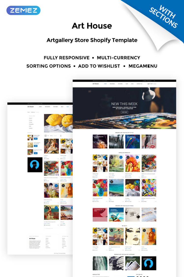 Art House Art Gallery Shopify Themes