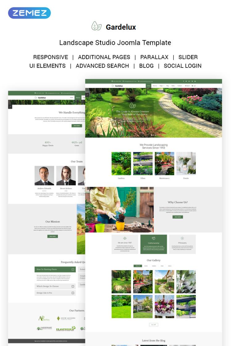 Gardelux Landscape Studio Joomla Templates