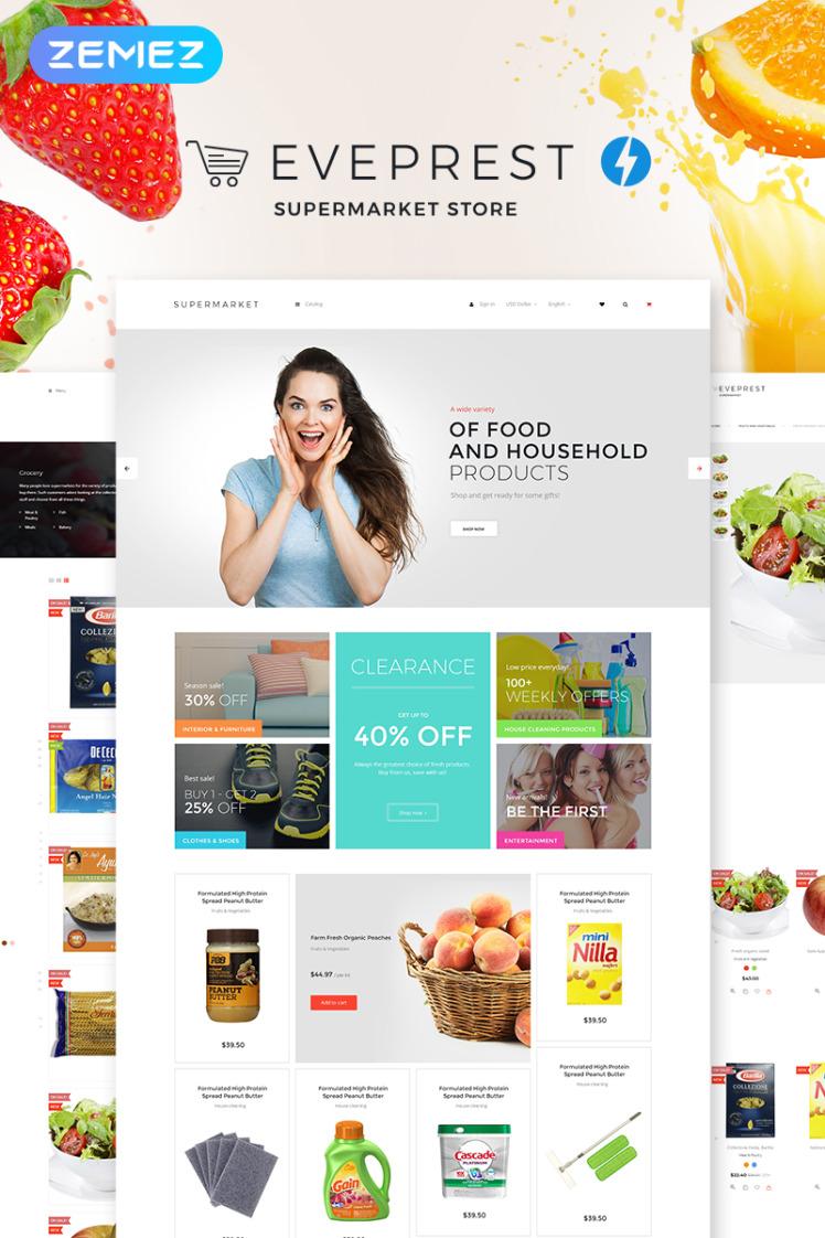 Eveprest Supermarket Supermarket Store PrestaShop Themes