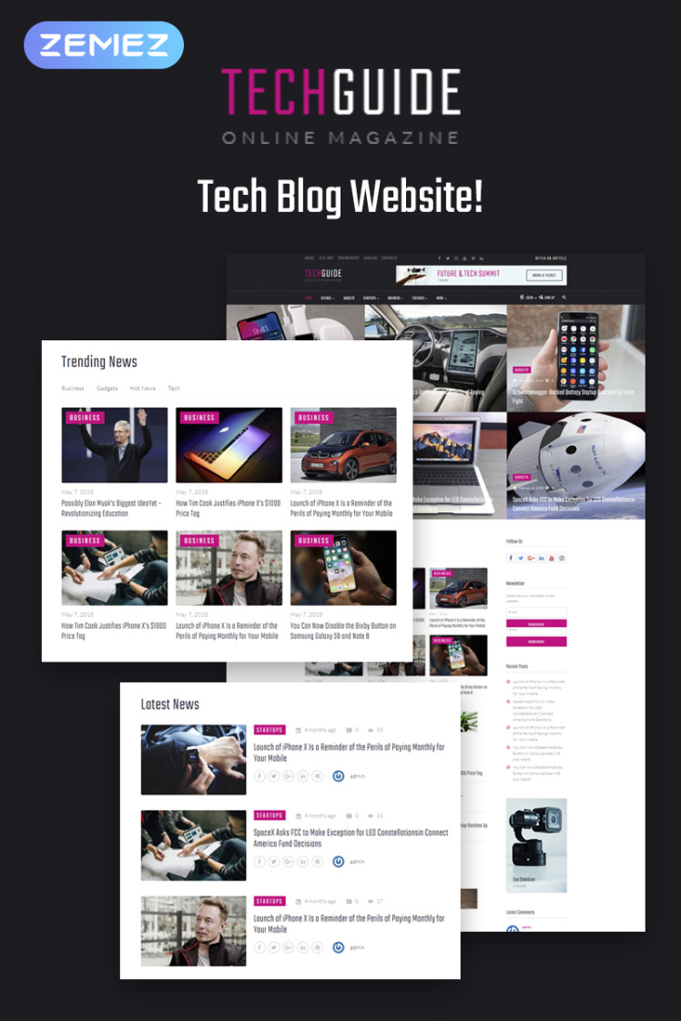 Techguide Tech Blog Elementor WordPress Theme
