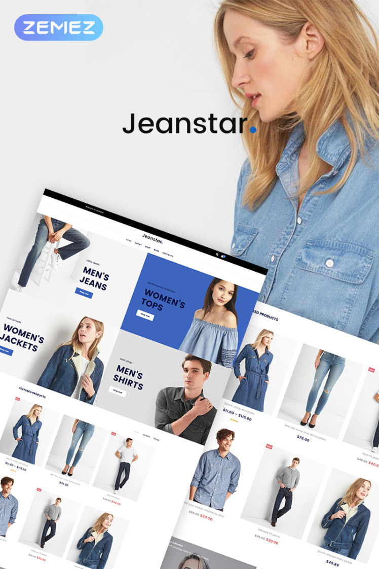 Jeanstar Clothes Store Elementor WooCommerce Themes