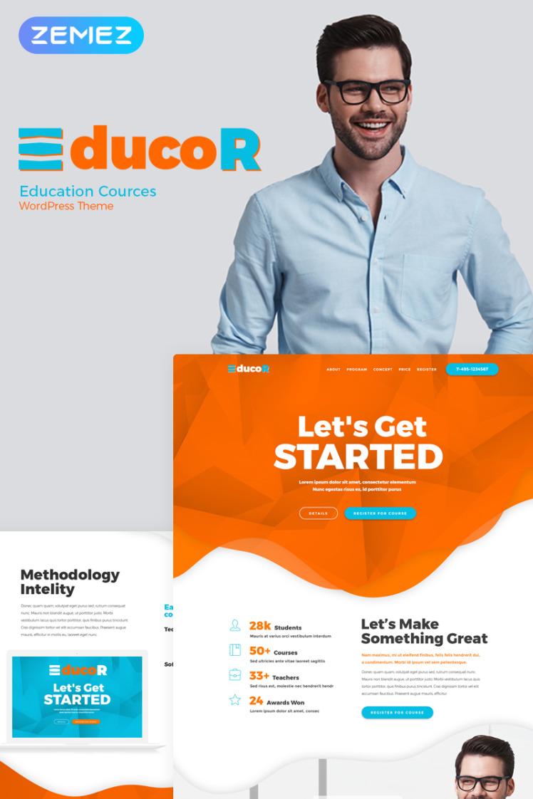Educor Education Courses WordPress Elementor Theme