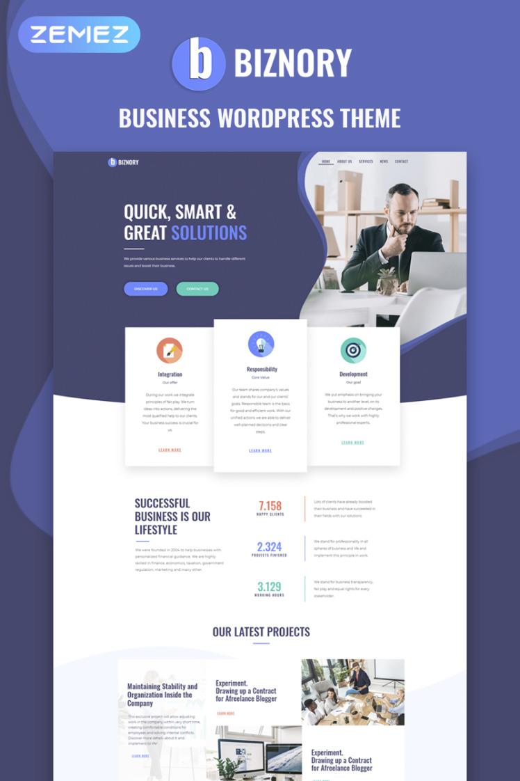 Biznory Business WordPress Elementor Theme
