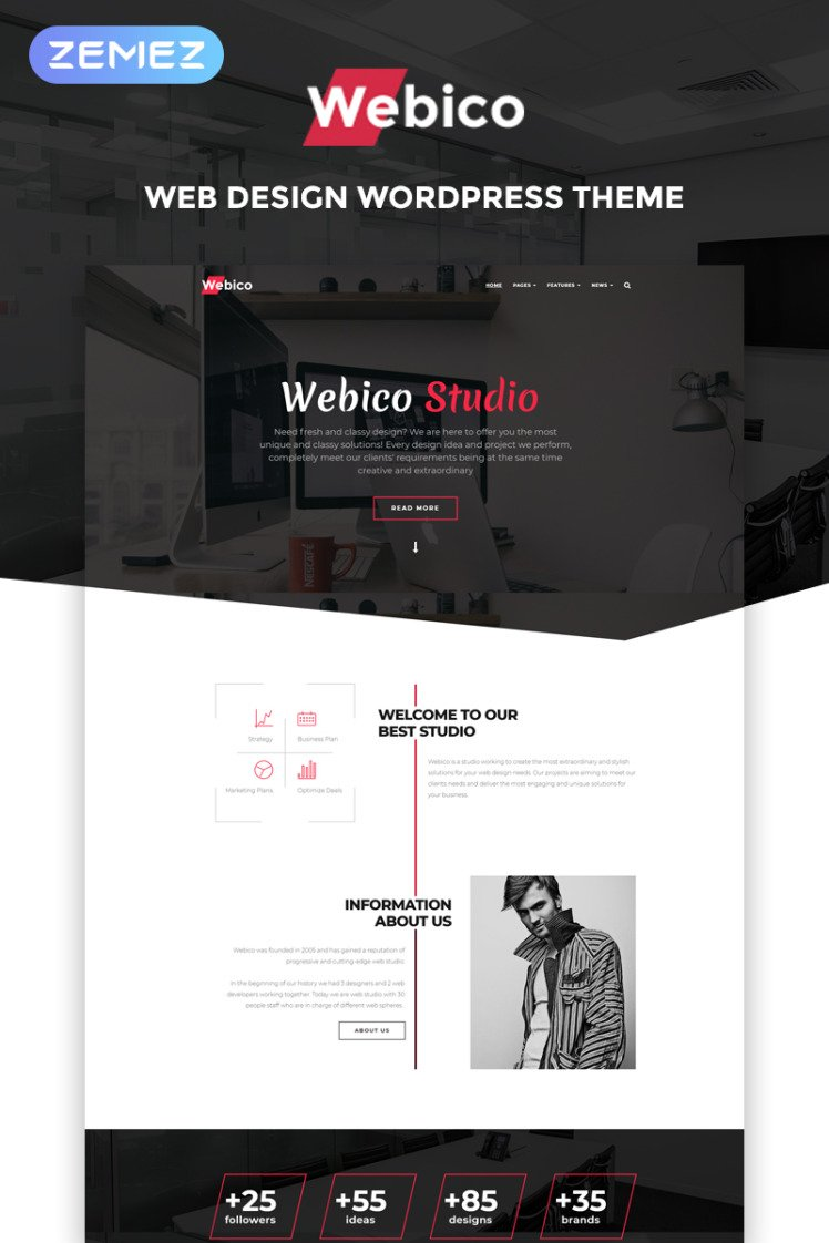 Webico Web Design Elementor WordPress Theme
