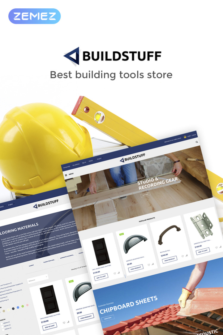 Buildstuff Building Tools Elementor WooCommerce Theme