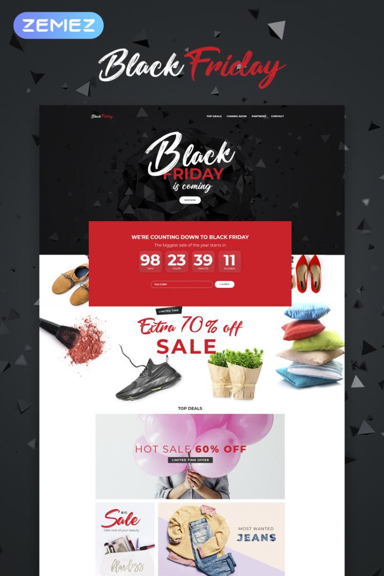 Black Friday Event Planner WordPress Elementor Theme