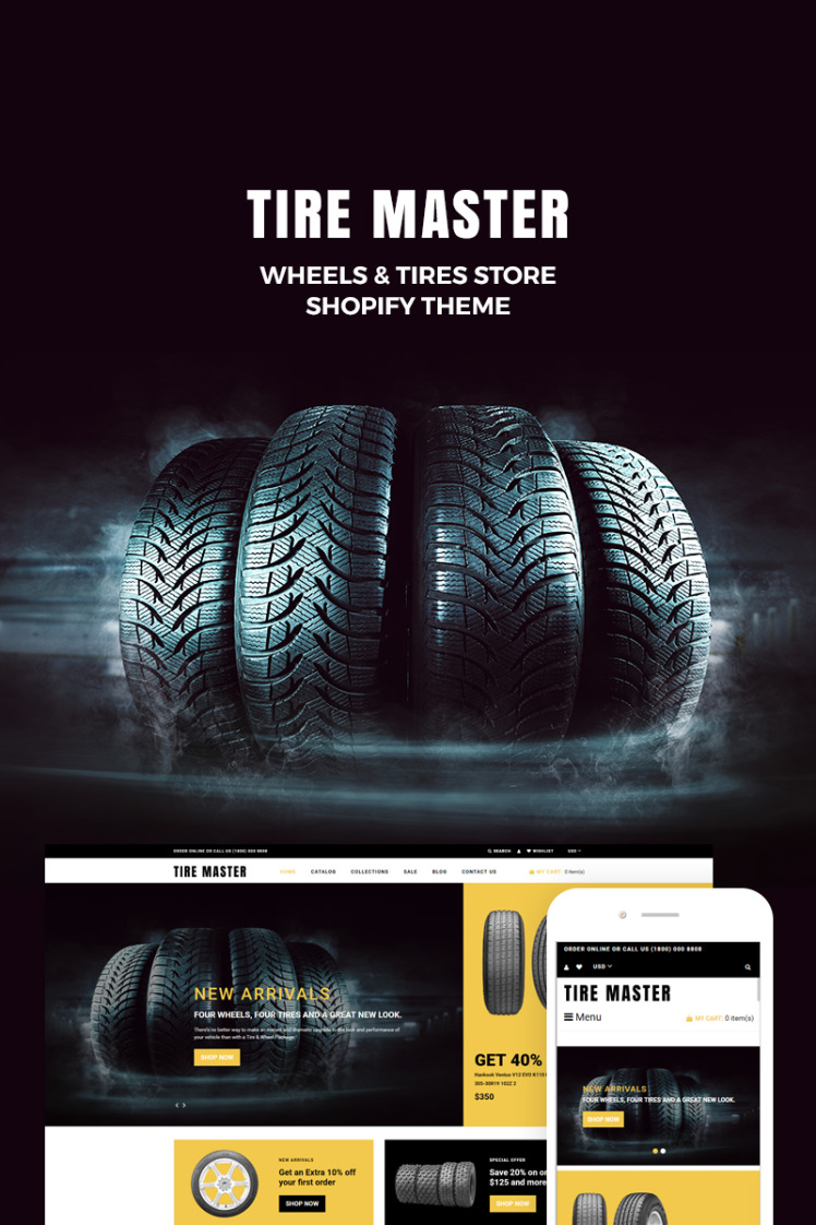 TireMaster Wheels Tires Shop Shopify Themes
