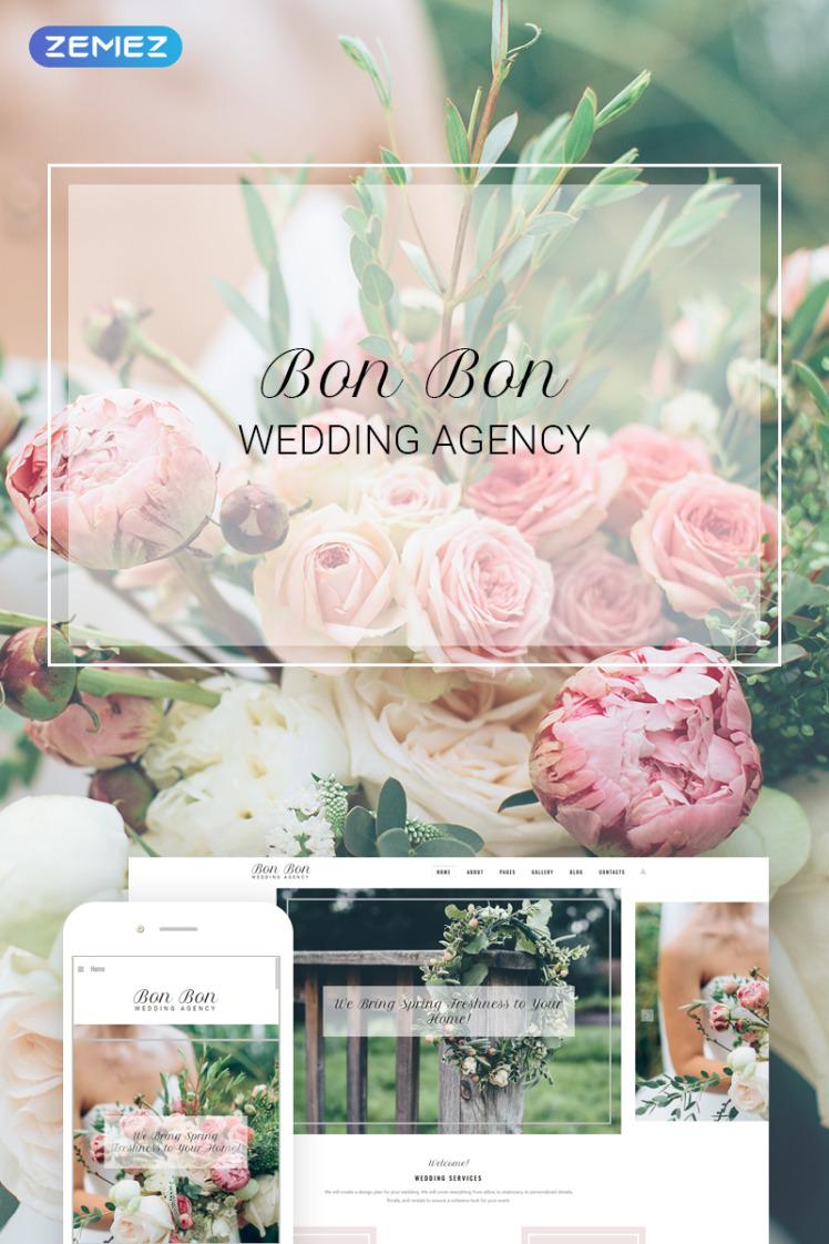Bon Bon Wedding Agency Joomla Templates