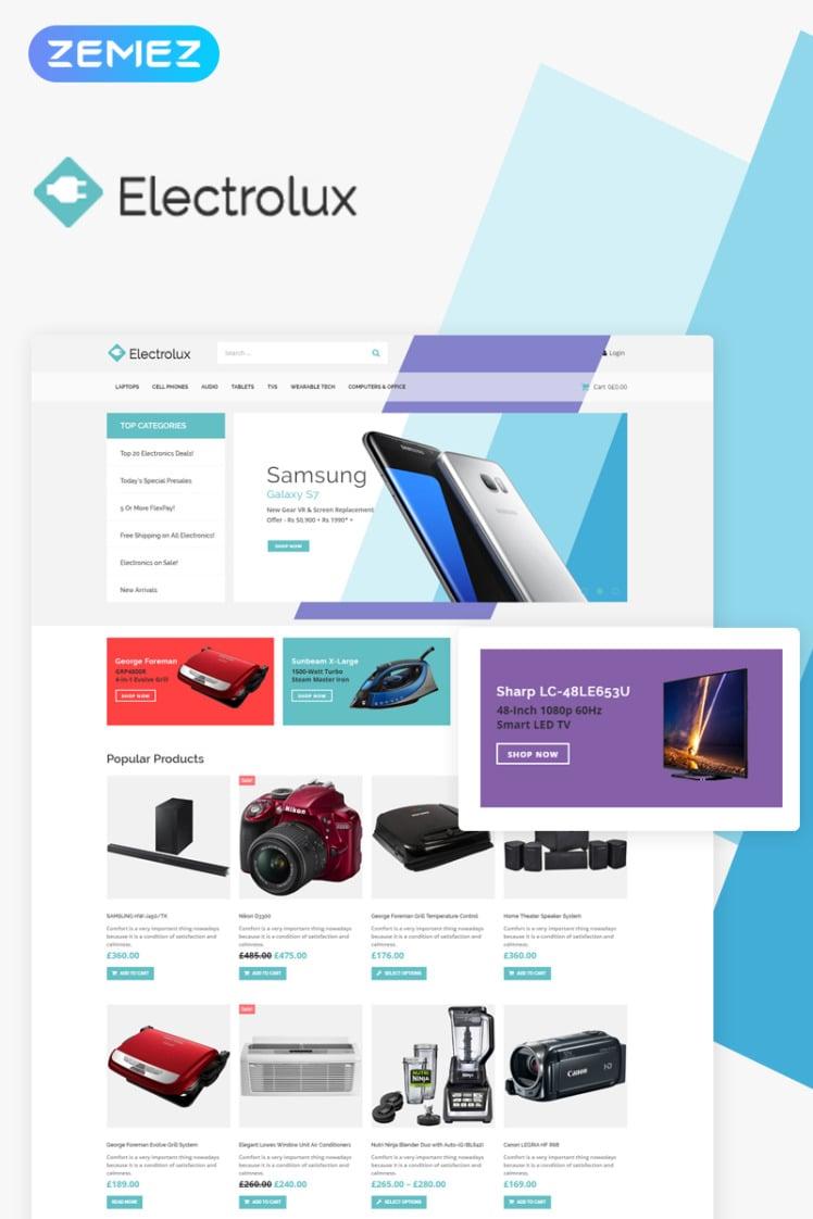 Electrolux Electronics Shop Elementor WooCommerce Themes
