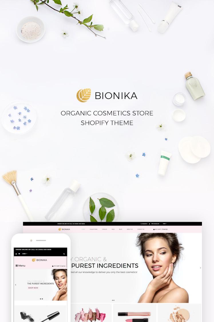 Bionika Organic Cosmetics Store Shopify Theme