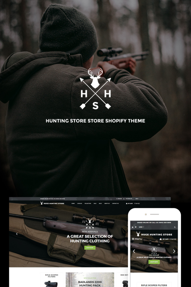 Huge Hunting Hunting Store Shopify Themes