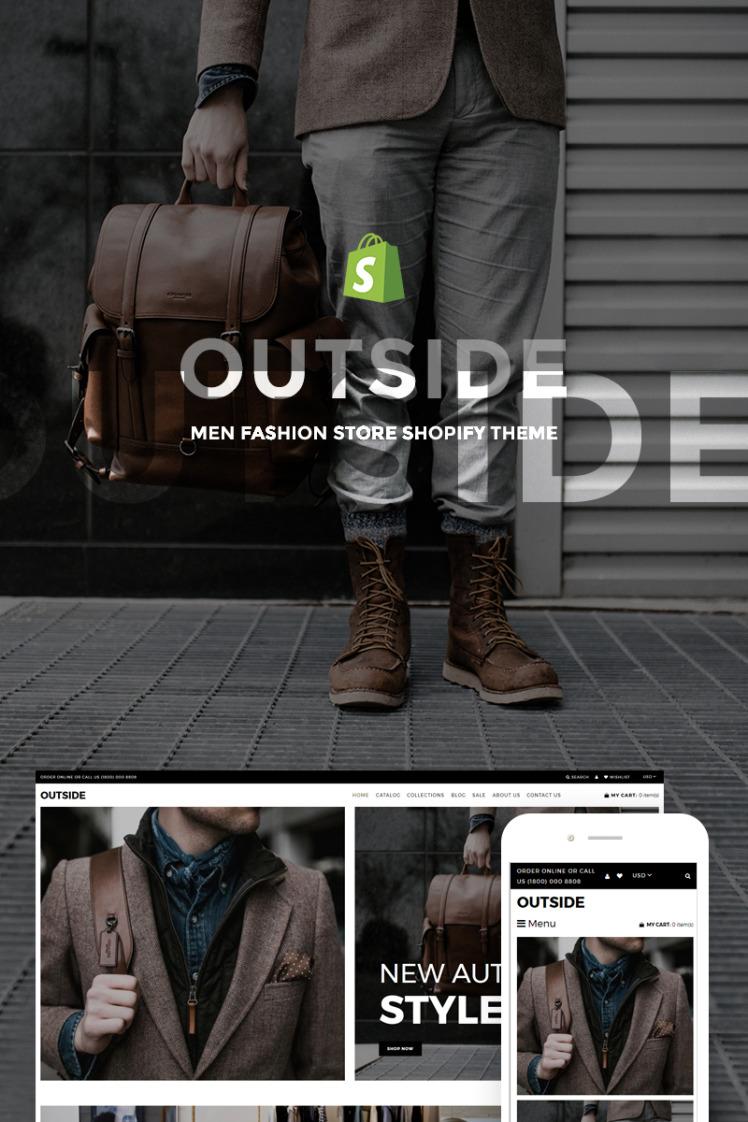 Outside Men Fashion Store Shopify Theme