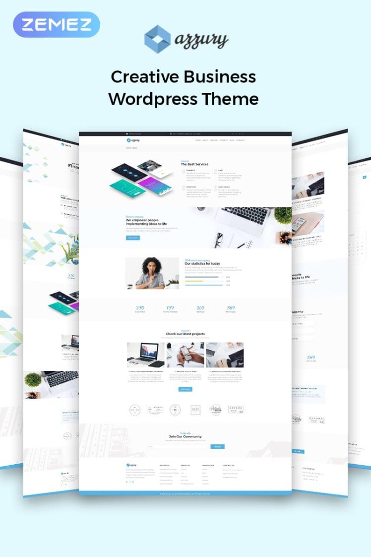 Azzury Creative Business WordPress Elementor Theme