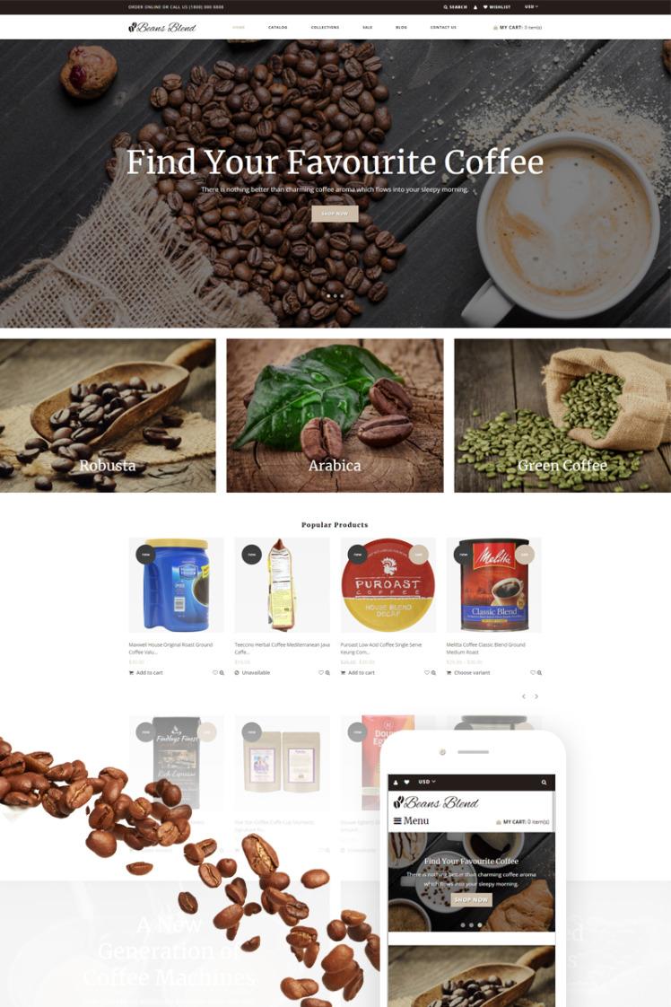 Beans Blend Coffee Shop Shopify Themes