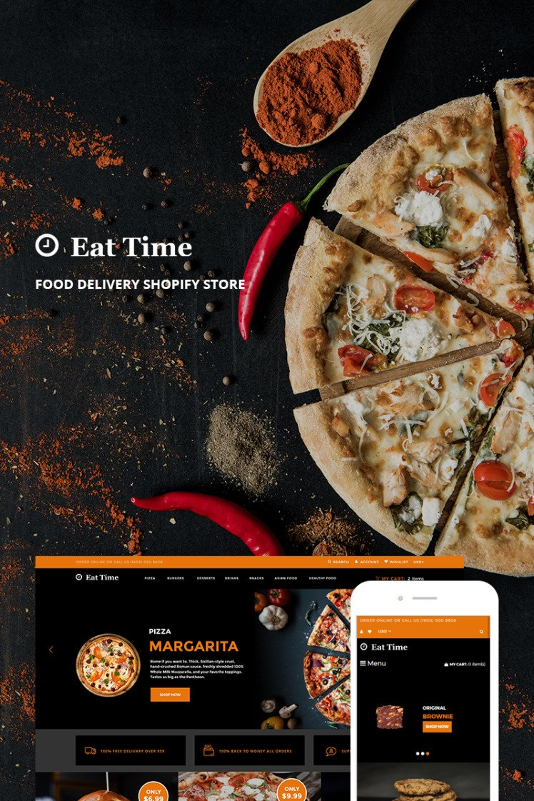 Eat Time Food Delivery Store Shopify Theme