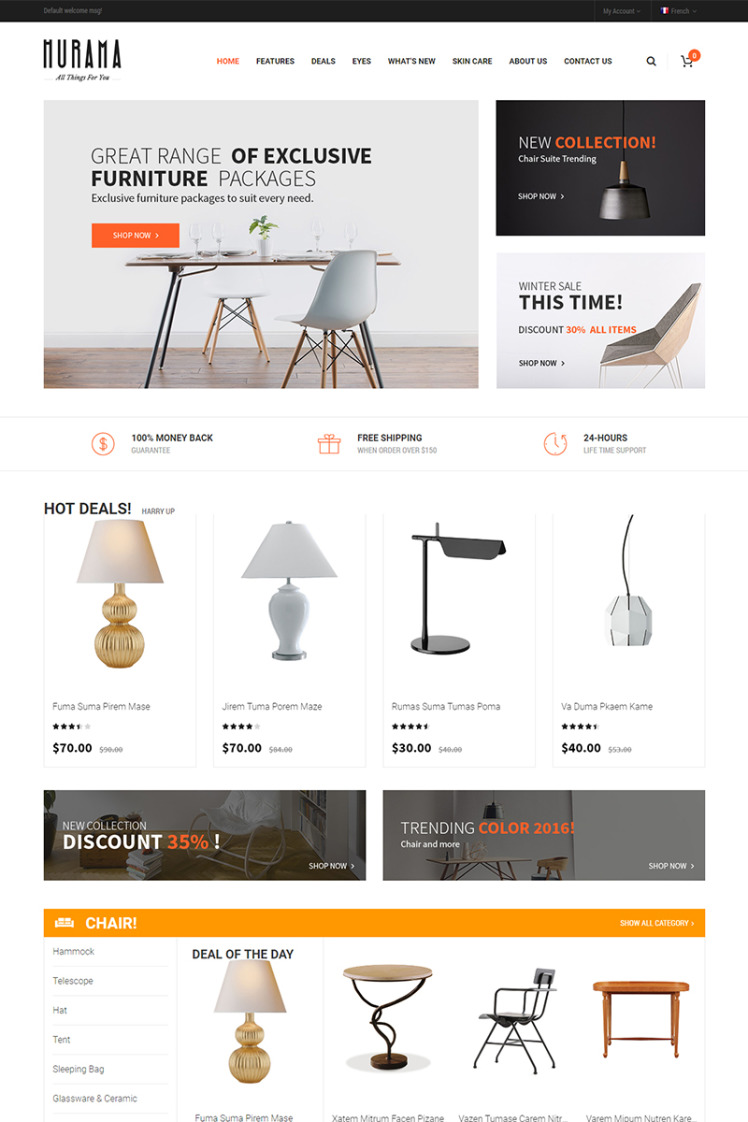 Hurama Responsive and Customizable Magento Themes