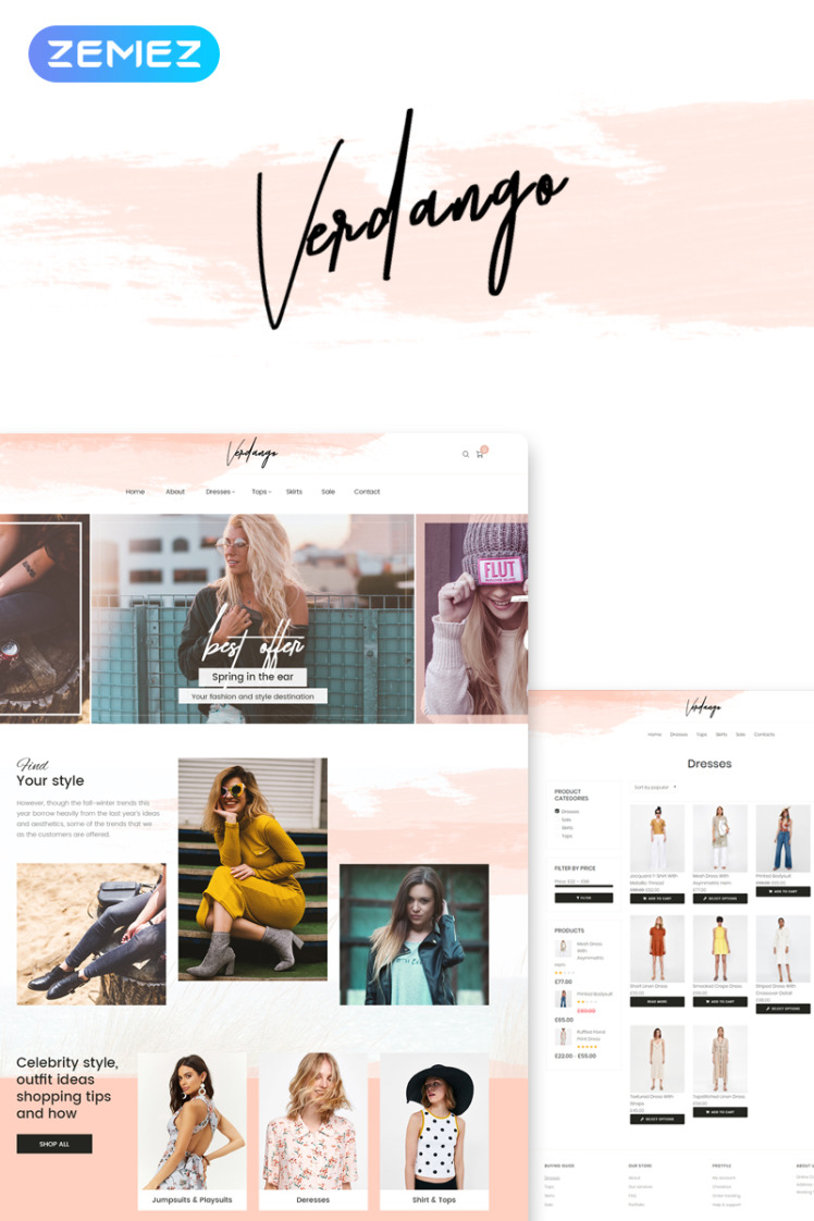 Verdango Fashion Store Elementor WooCommerce Theme